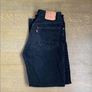 Levi's 505 black jeans, 34x34